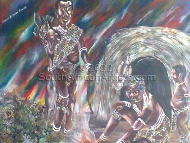 Bushman with Impala