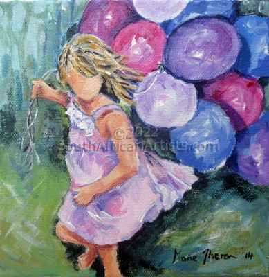 Girl with Balloons 2