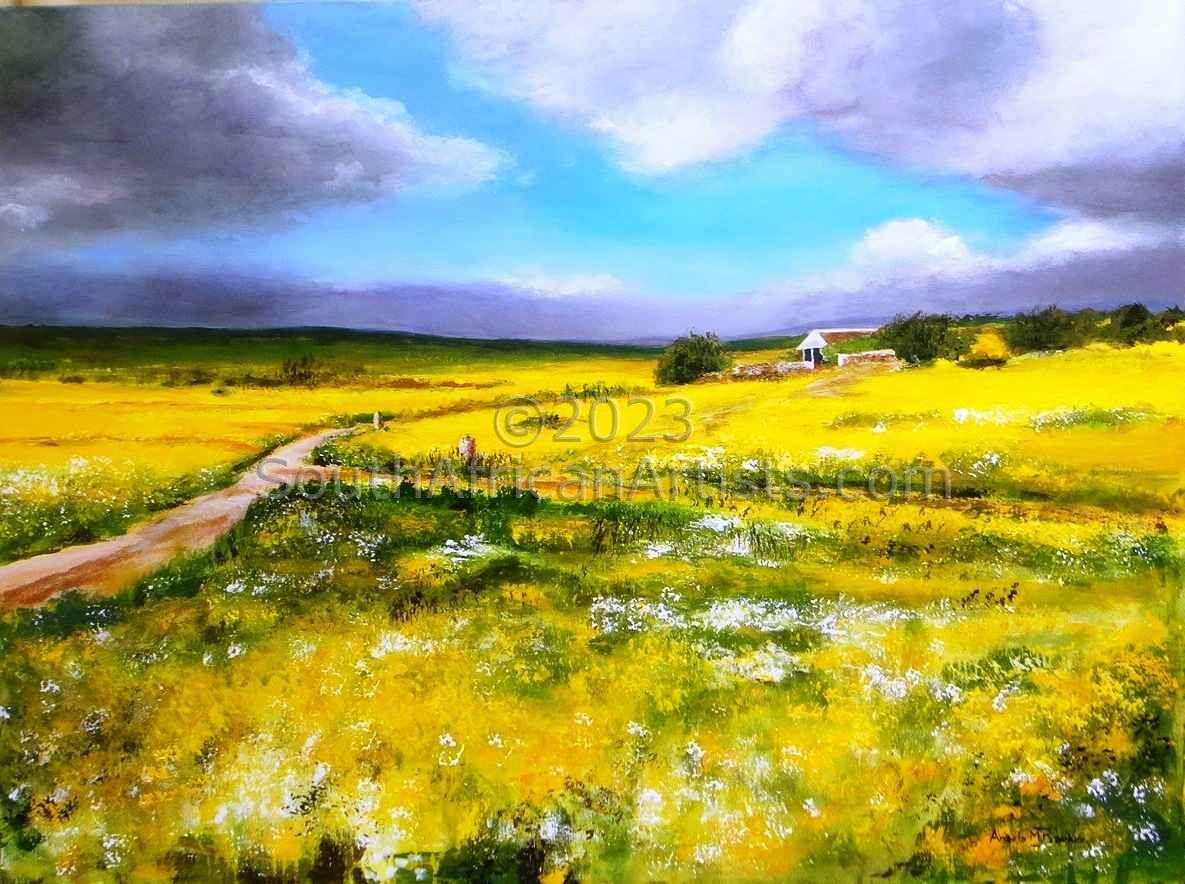 Spring Flowers around a Farmhouse