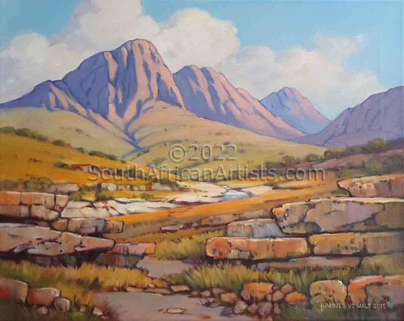 Mountain Scene with Rocky Ridges