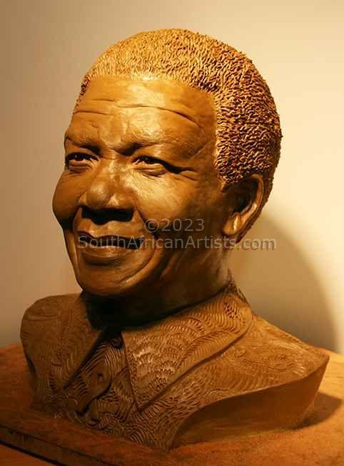 Nelson Mandela (Life Size Bust)