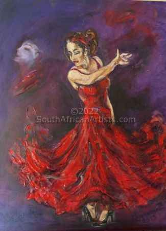Dancing Gipsy in Red