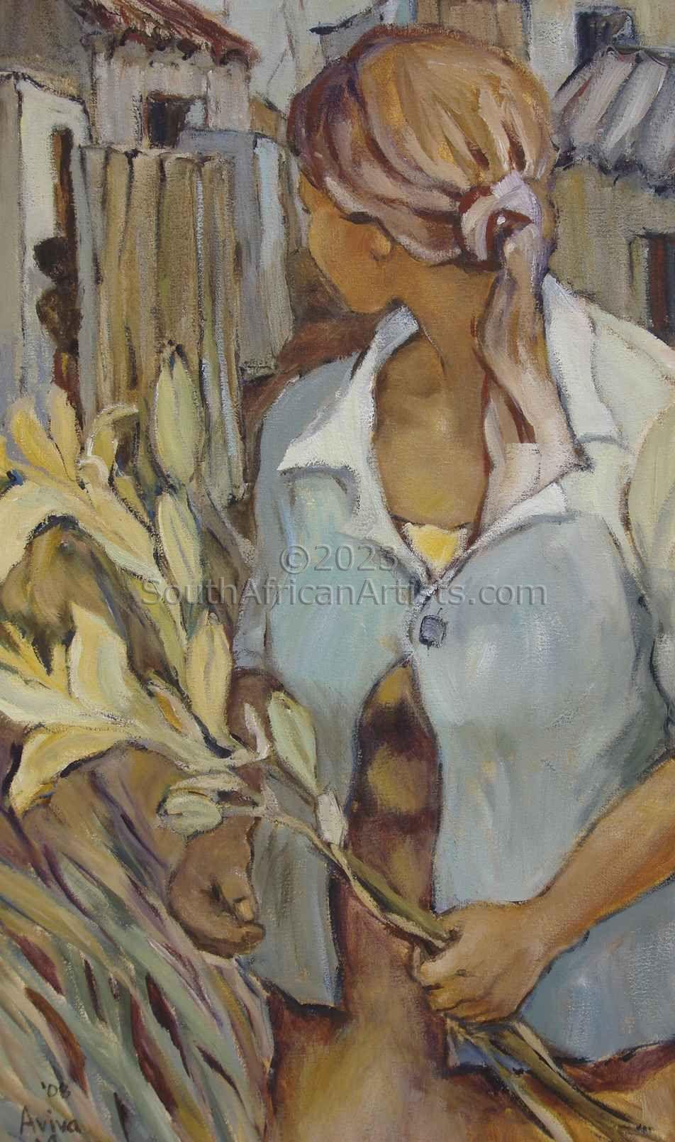 Girl With Flower - Meisie Met Blom