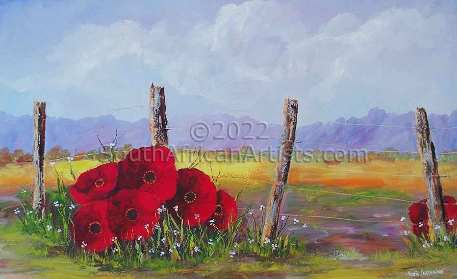 Fence Poppies