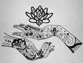 Hands with Lotus