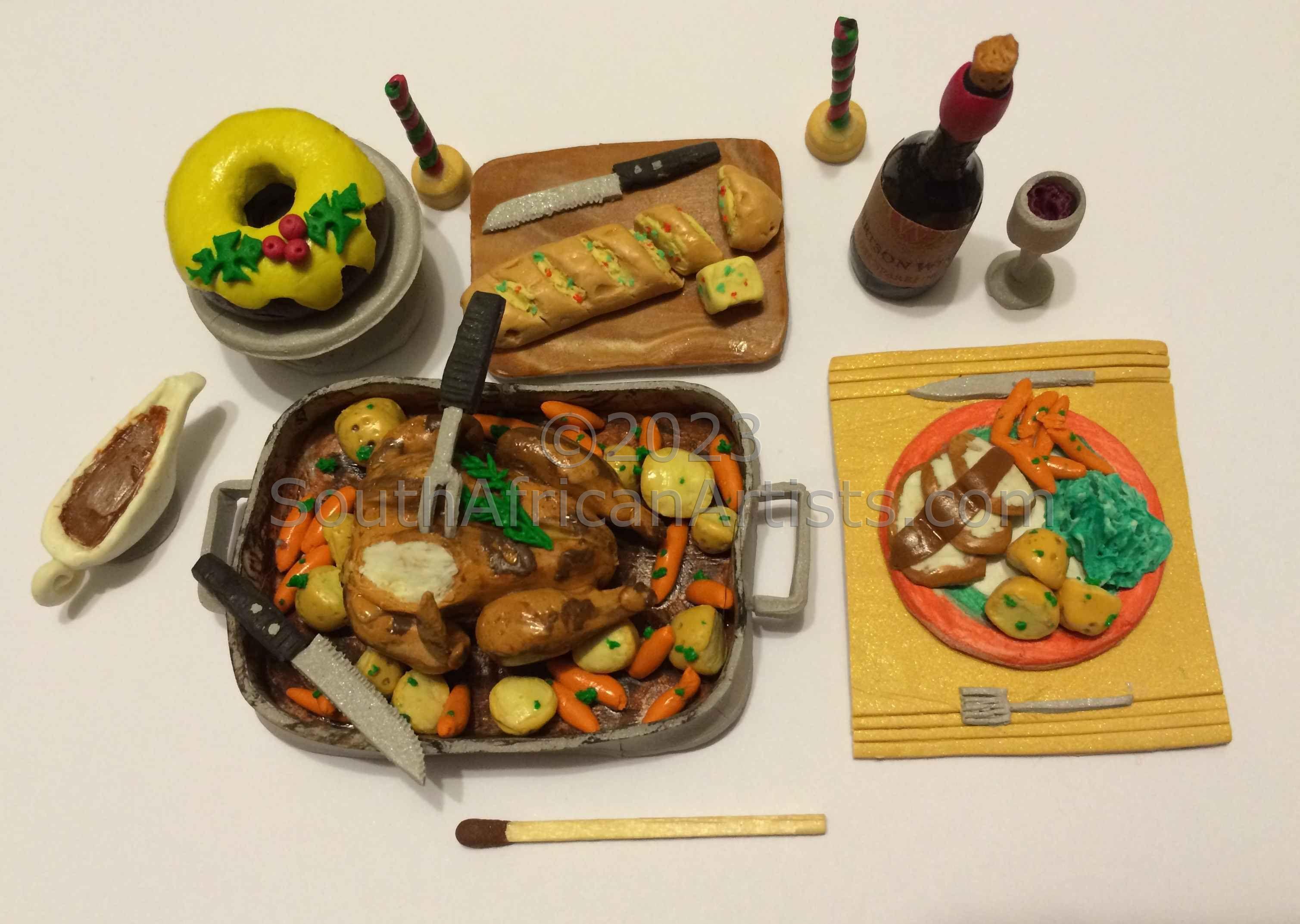 Micro Food Art: Christmas Dinner