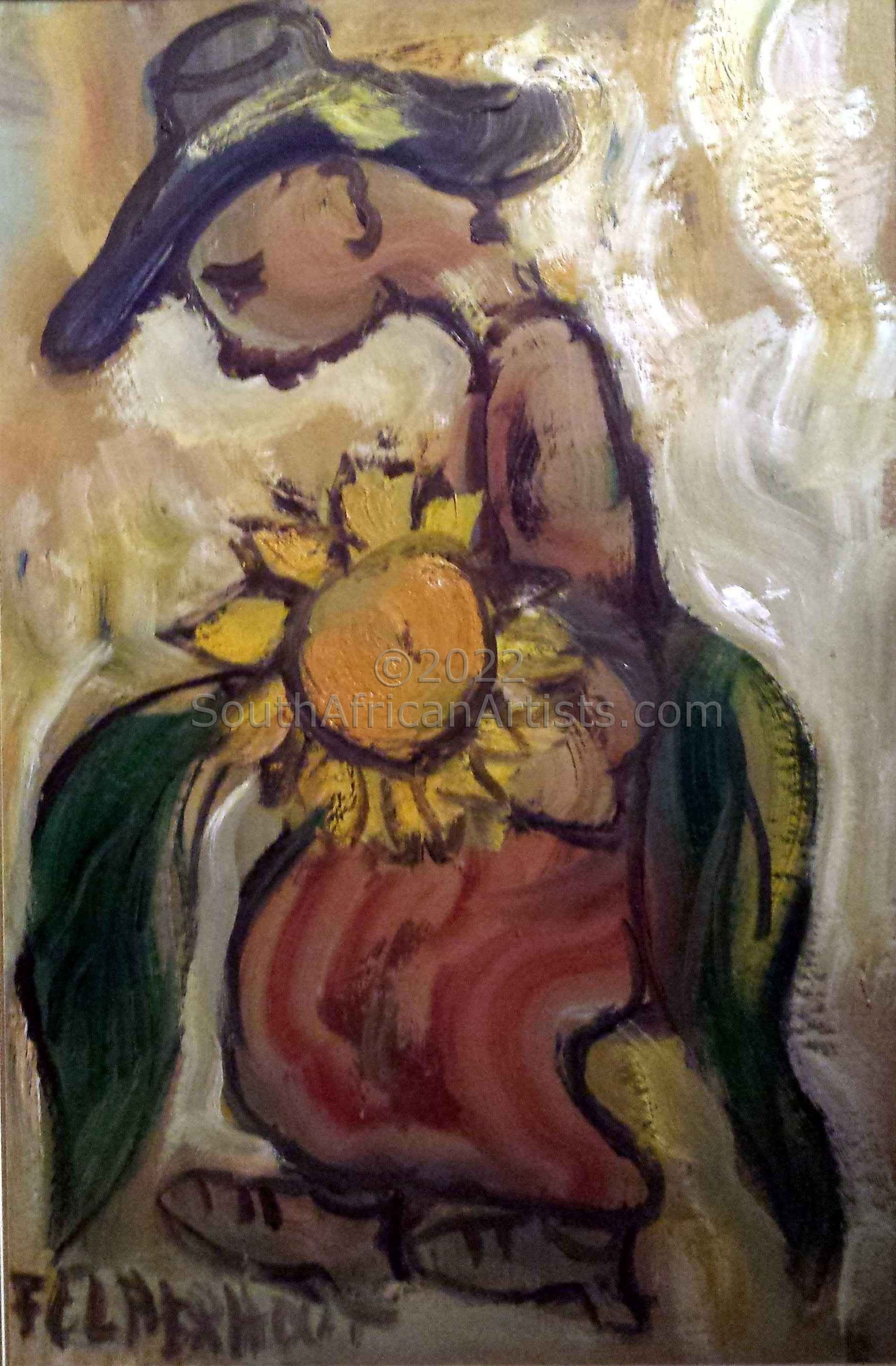 A Man With Sunflower