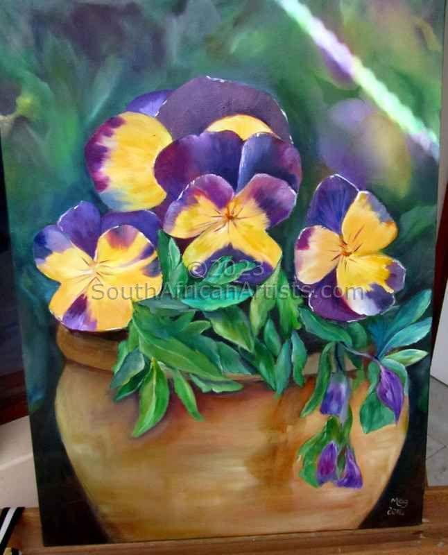 Pot of Pansies