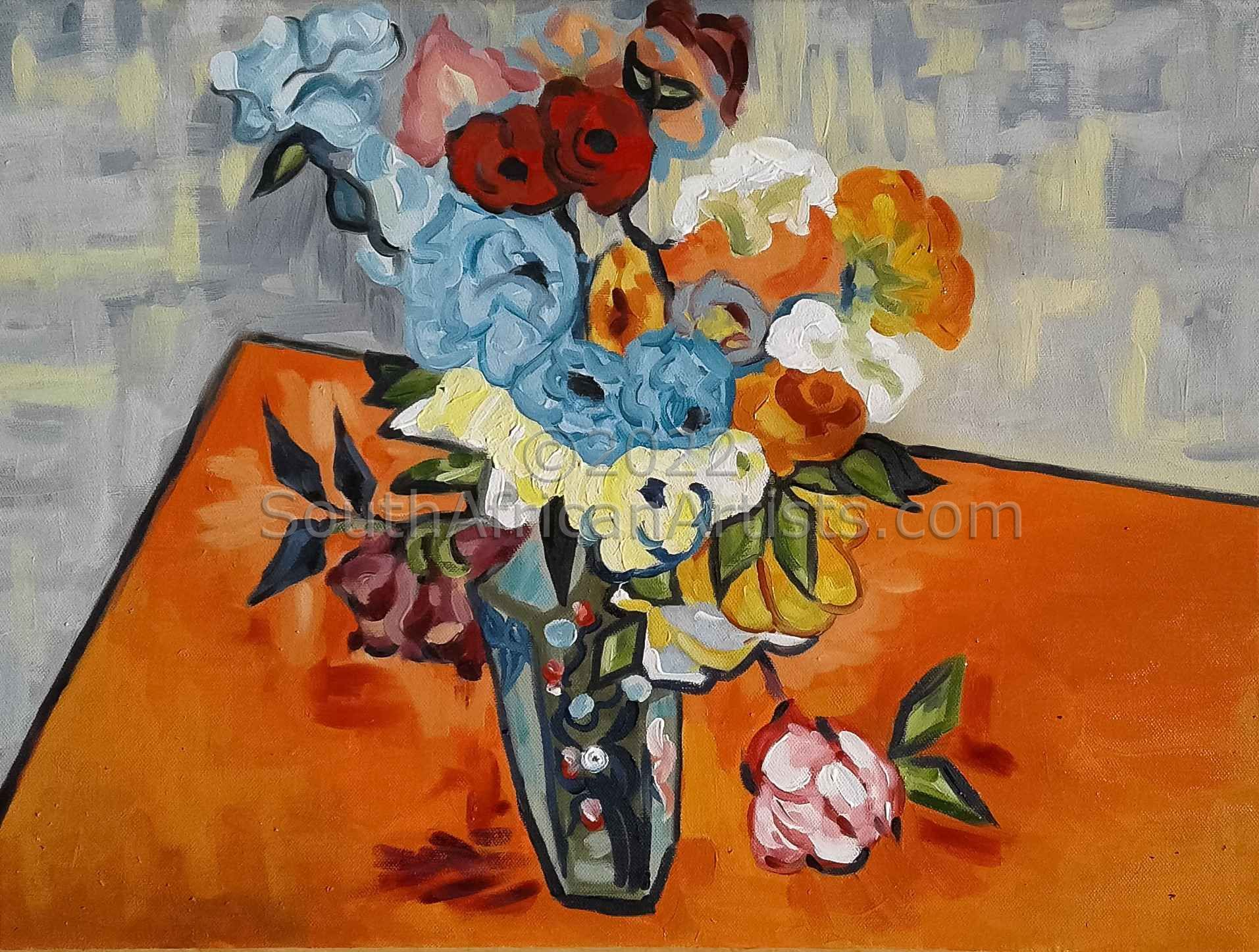 """Flowers in a Chinese Vase"""