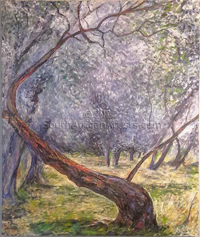 """Study of Olive Trees - After Claude Monet"""