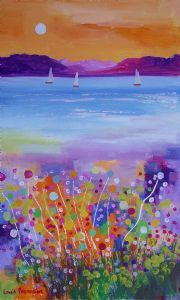 """Moonflowers with Tree Sailboats"""