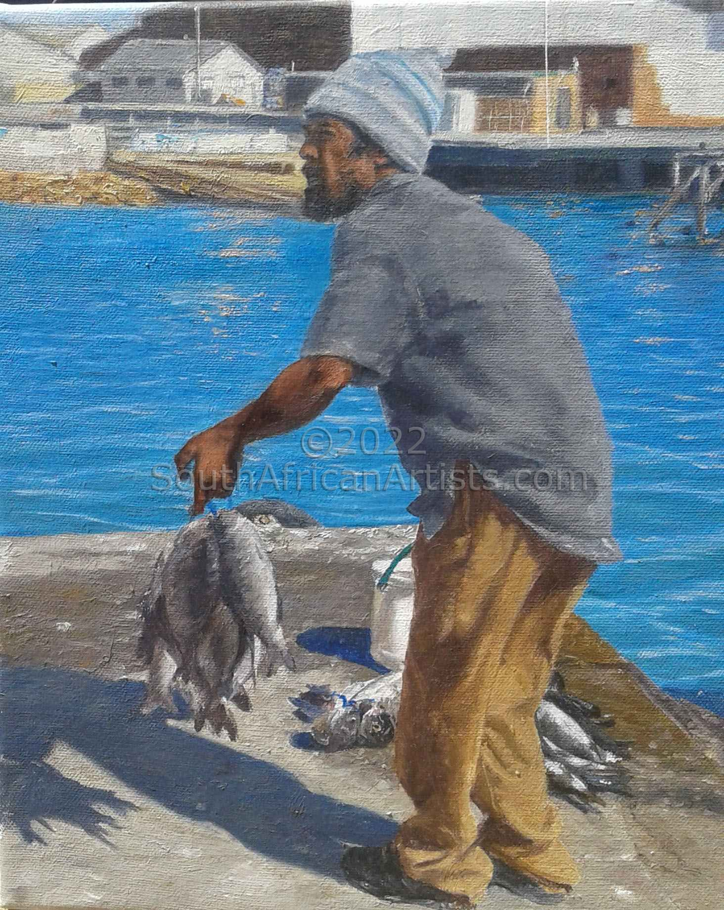 """Fisherman with Catch"""