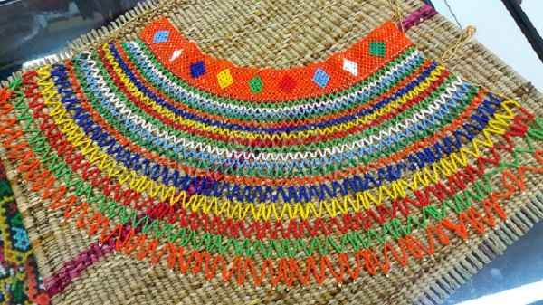 """Large Traditional MultiColor Necklace"""