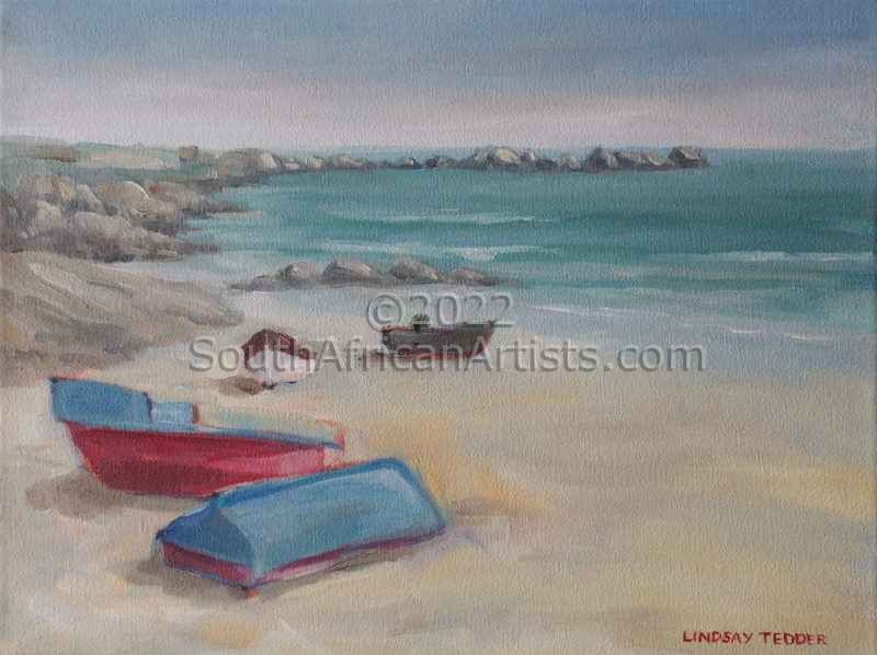 """Boats on the Beach Paternoster"""