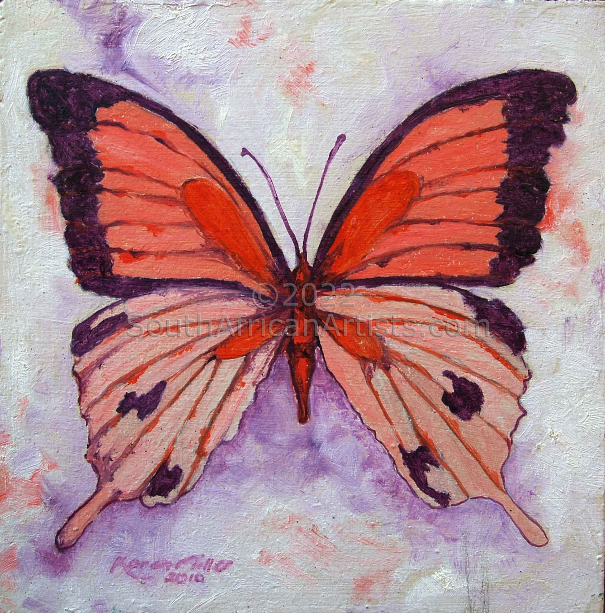 """Butterfly Coral and Magenta"""