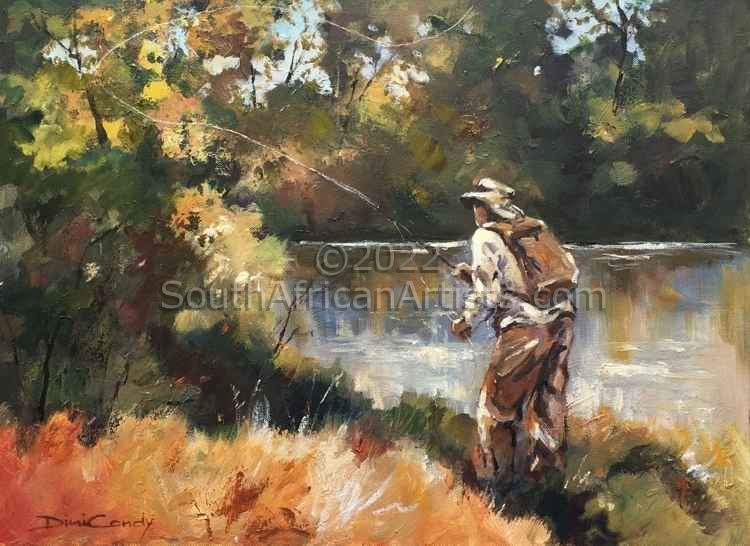 """Fly Fishing - Golden Greens"""