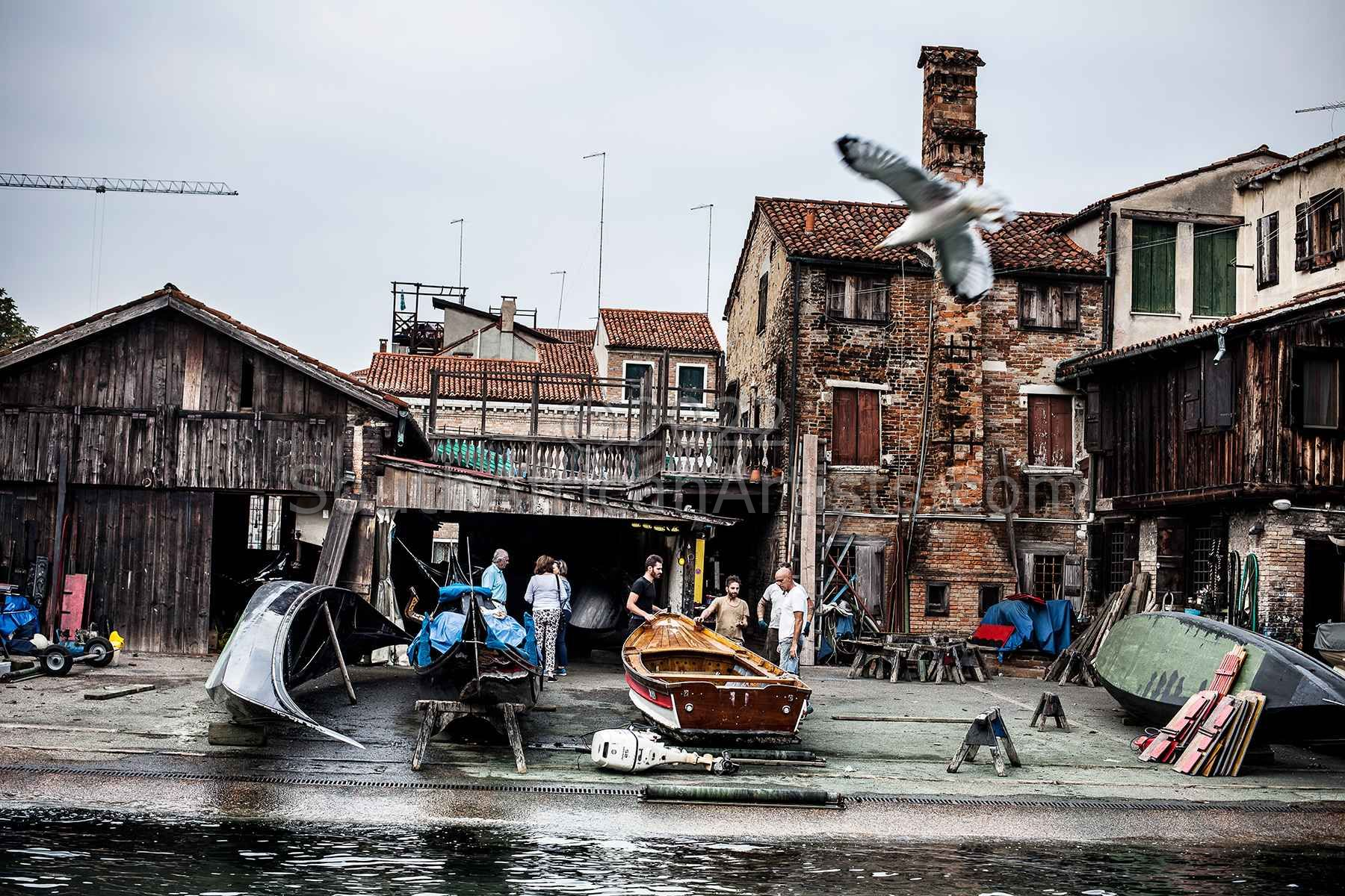 """Venice, Fixing the Boats 2016"""
