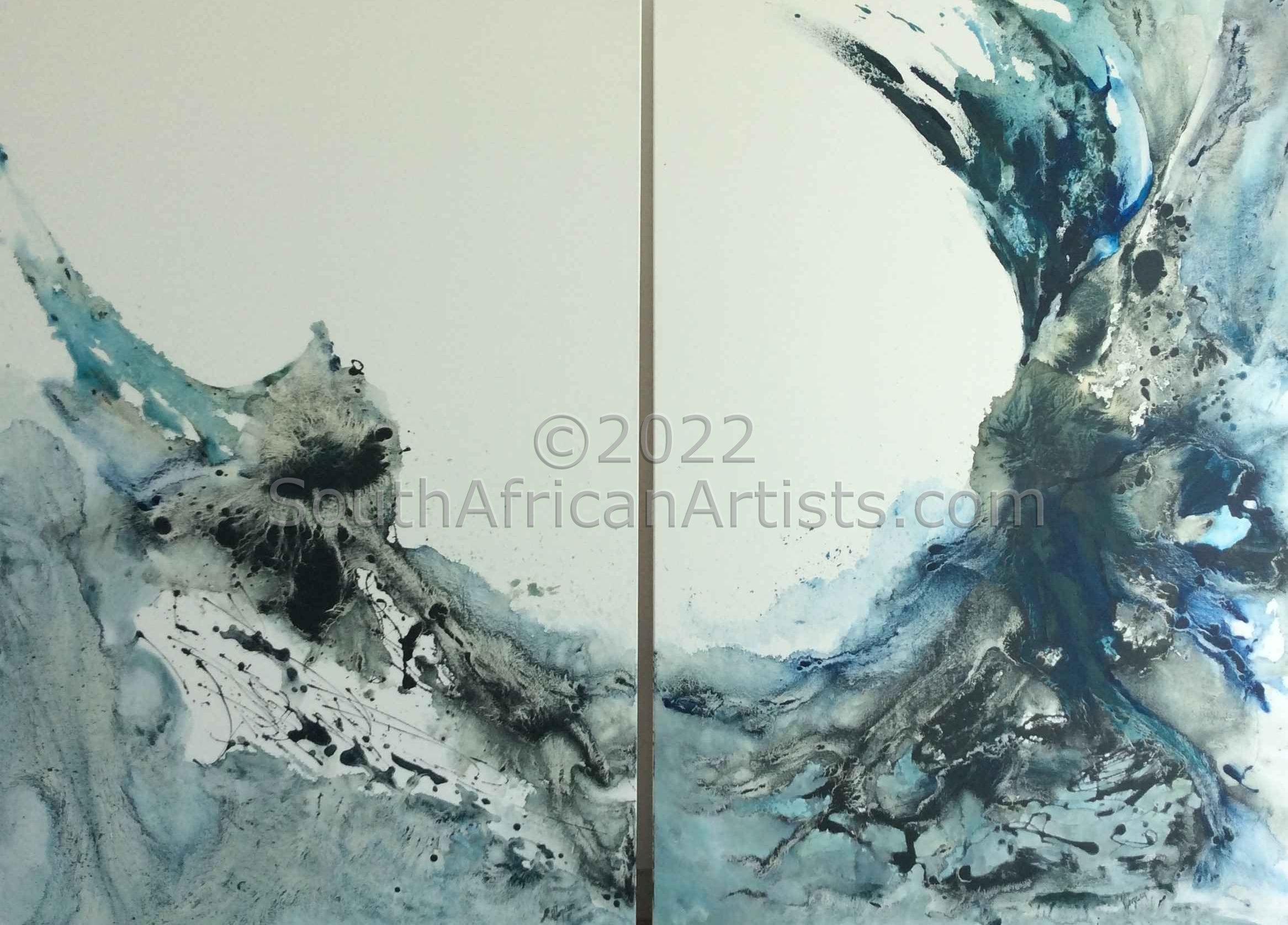 """Sea and Beyond (Diptych)"""