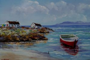 """Sea Cottages with Boat"""