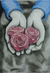 """Hands Holding Flowers"""