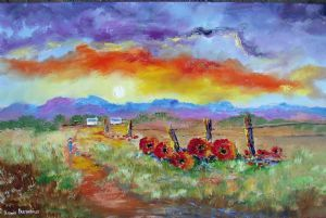 """Fence Poppies"""