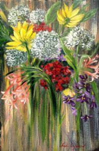 """Carol's Mixed Flowers"""