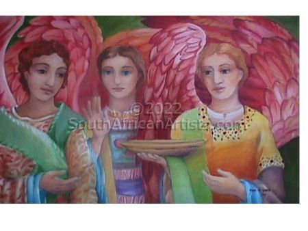 """Angels with Golden Bowl"""