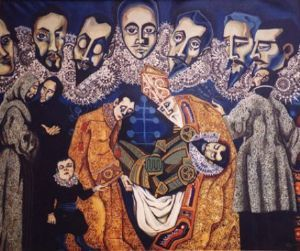 """Variation on a Theme by El Greco - the Burial of Count Orgaz"""