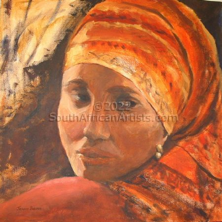"""Girl with Red Headscarf"""