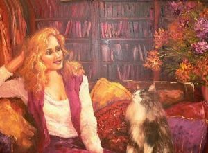"""Woman with Cat"""