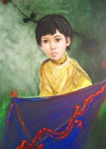 """Chinese Boy With Kite"""