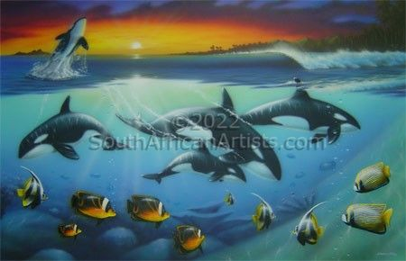 """Orcas in Paradise"""