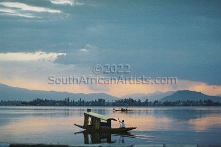 """Tranquility on Dhal lake"""