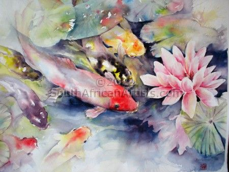 """Koi and Waterlilies"""