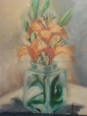 """Flowers in glass"""