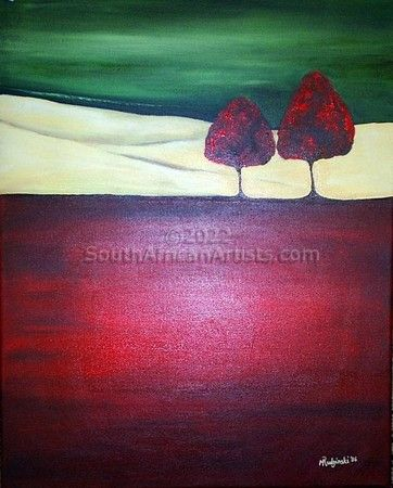 """Red Tree I (set of two)"""