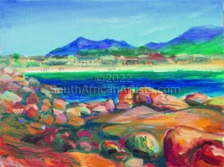 """Fish Hoek from Jager Walk"""