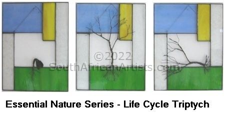 """Essential Nature series - Life Cycle Triptych"""