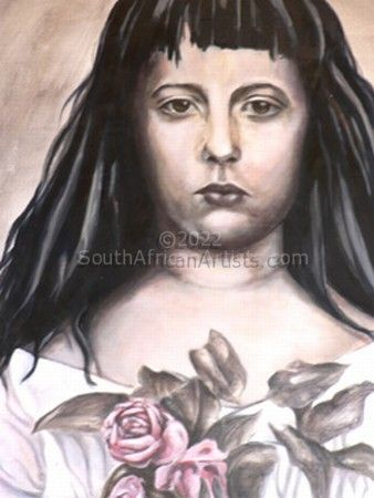 """Girl with Roses"""
