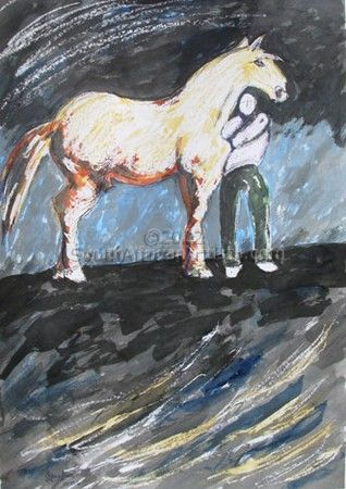 """Man with Horse"""