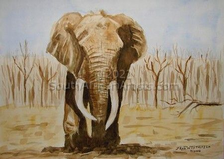 """Elephant At the Waterhole"""