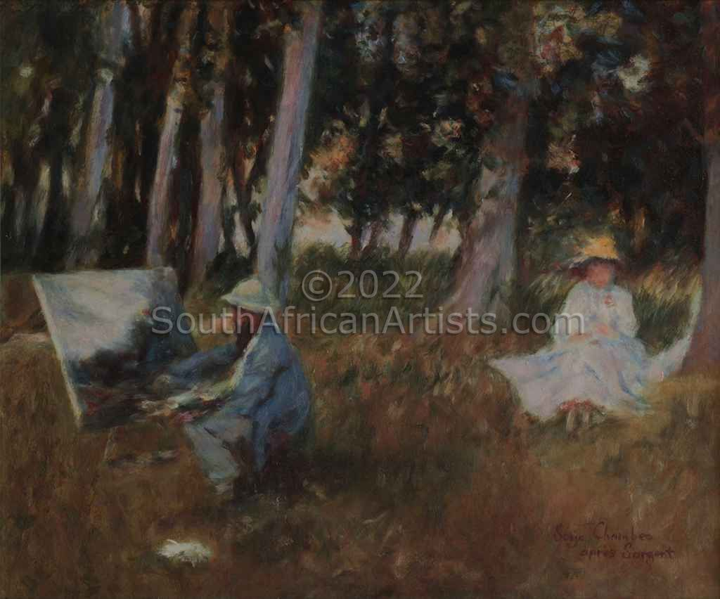 """Monet Painting on the Edge of a Wood (..Sargent)"""