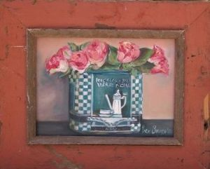 """Roses in Blue Tin"""