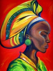 """zulu woman with red"""