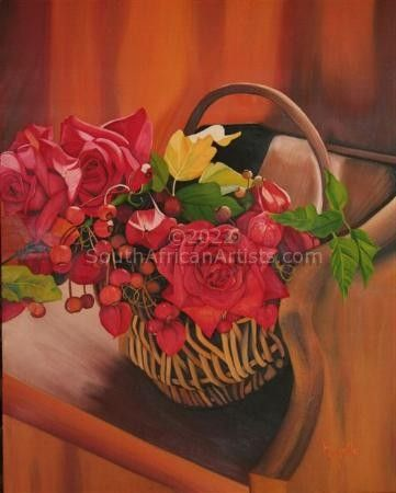 """Basket with roses"""