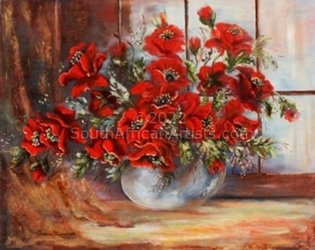 """Still life with red poppies"""