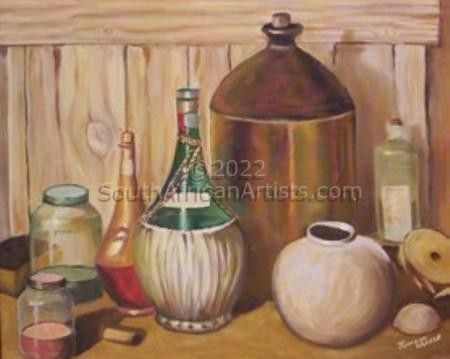 """Still Life With Jar and Bottles"""