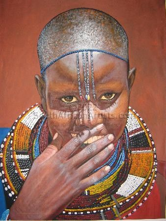 """Blushing Maasai Bride"""