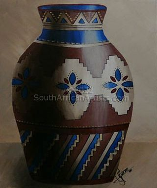 """Brown and Blue Pot"""