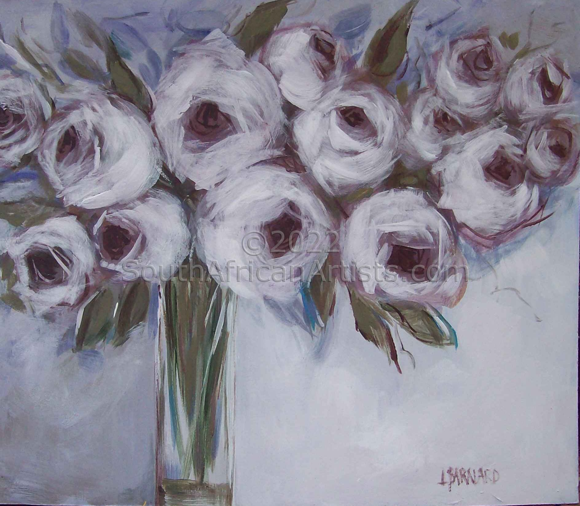 """White Flower, with Soft Shades of Lilac"""